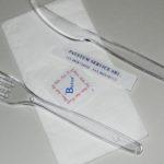 Bis monouso con forchetta e coltello trasparenti, tovagliolo 2 veli, sale e stuzzicadenti